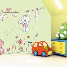 наклейки для детской комнаты фото идеи