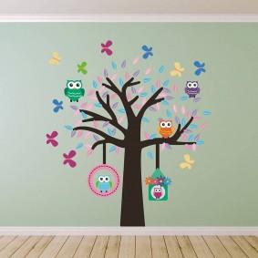 наклейки для детской комнаты дизайн