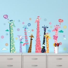 наклейки для детской комнаты дизайн фото