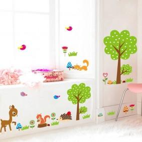 наклейки для детской комнаты фото дизайн