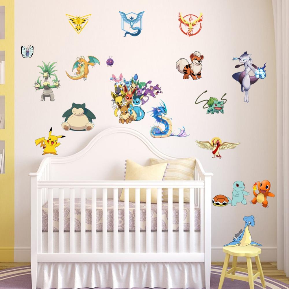 наклейки на стене в детской фото дизайн