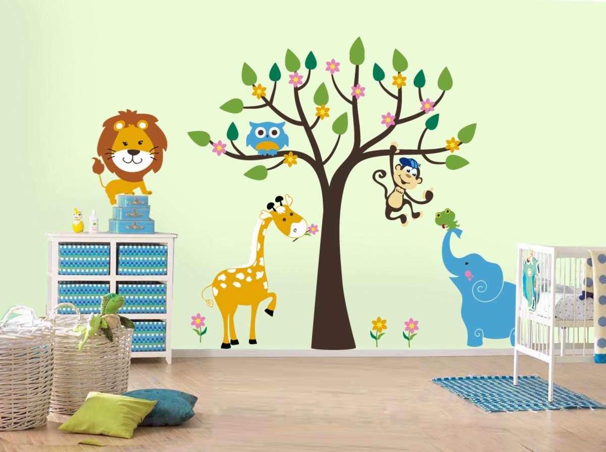 наклейки на стене в детской идеи
