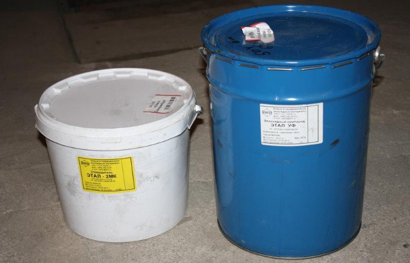 Эпоксидный двухкомпонентный наливной пол в емкостях