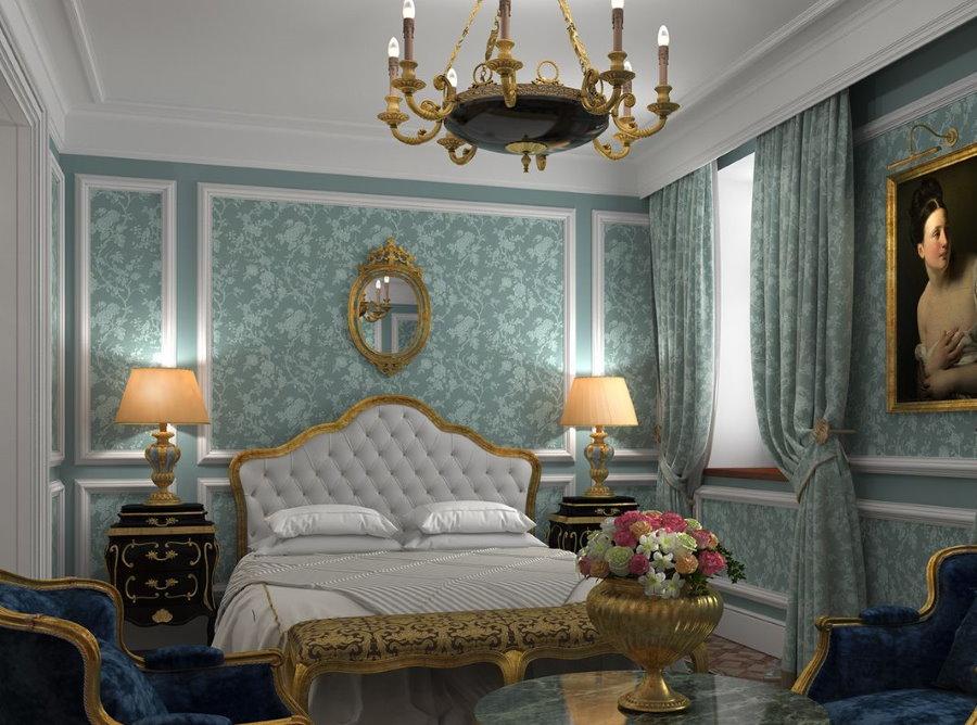 Интерьер спальни в стиле необарокко