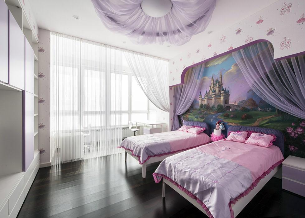 Выбор обоев для комнаты девочек младшего возраста