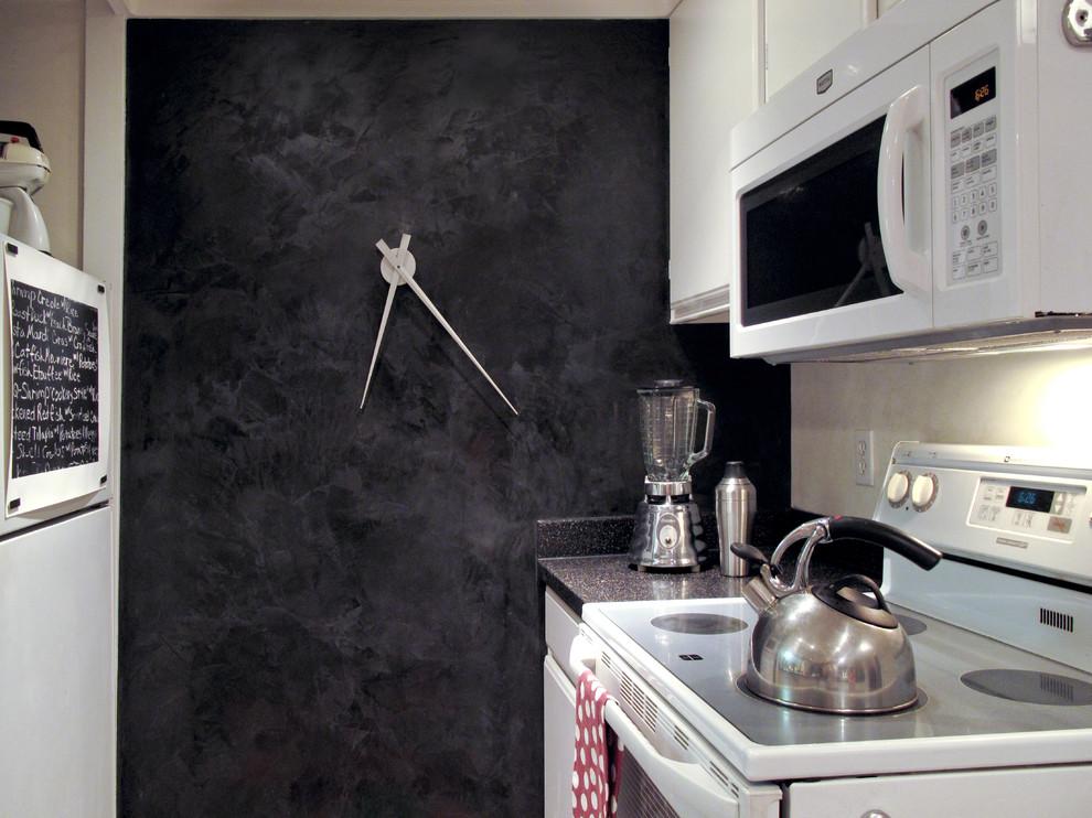 черная декоративная штукатурка на кухне