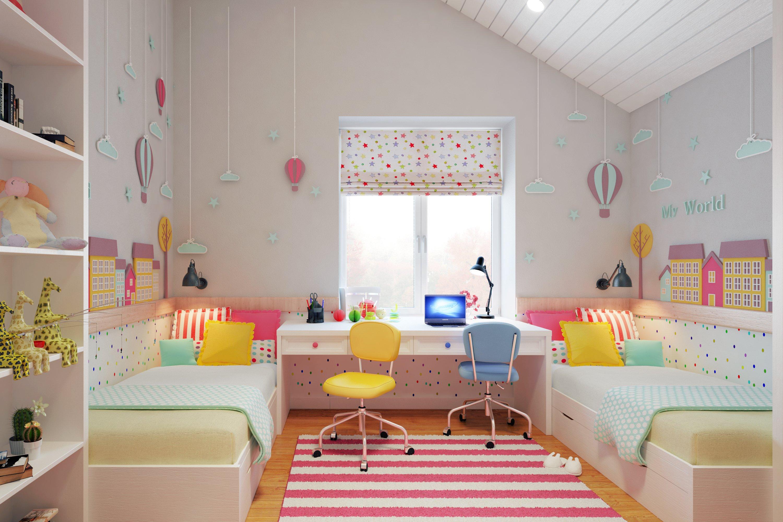 обустройство детской комнаты дизайн фото