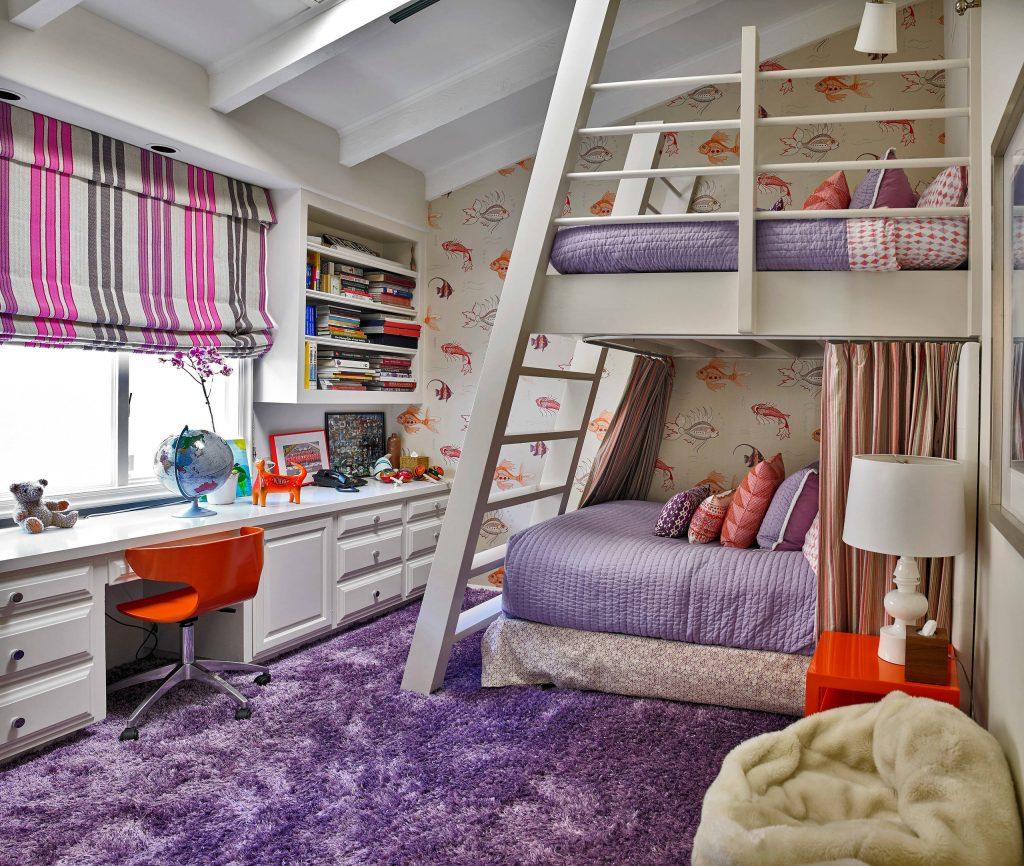 обустройство детской комнаты дизайн обоев