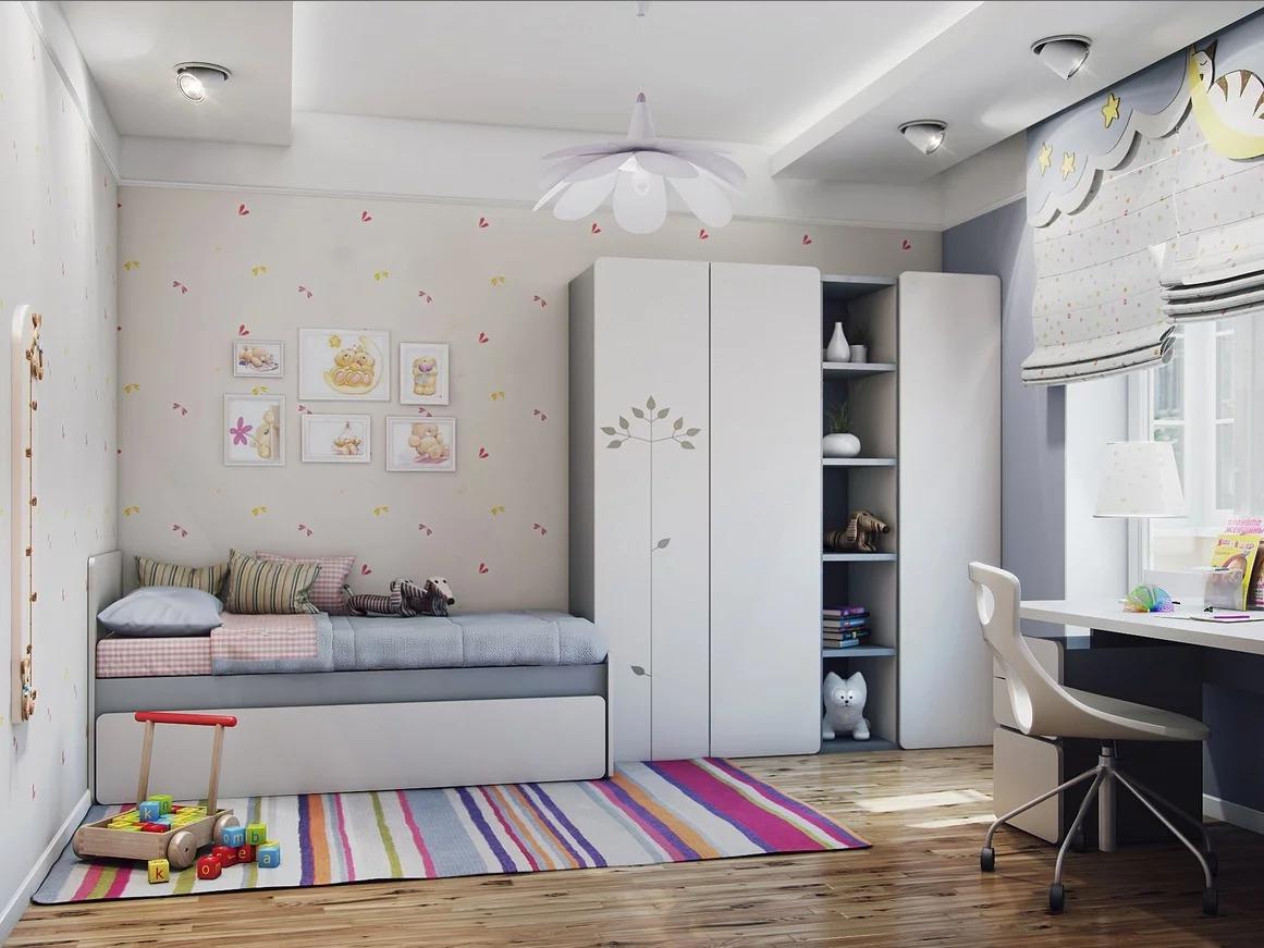 обустройство детской комнаты дизайн