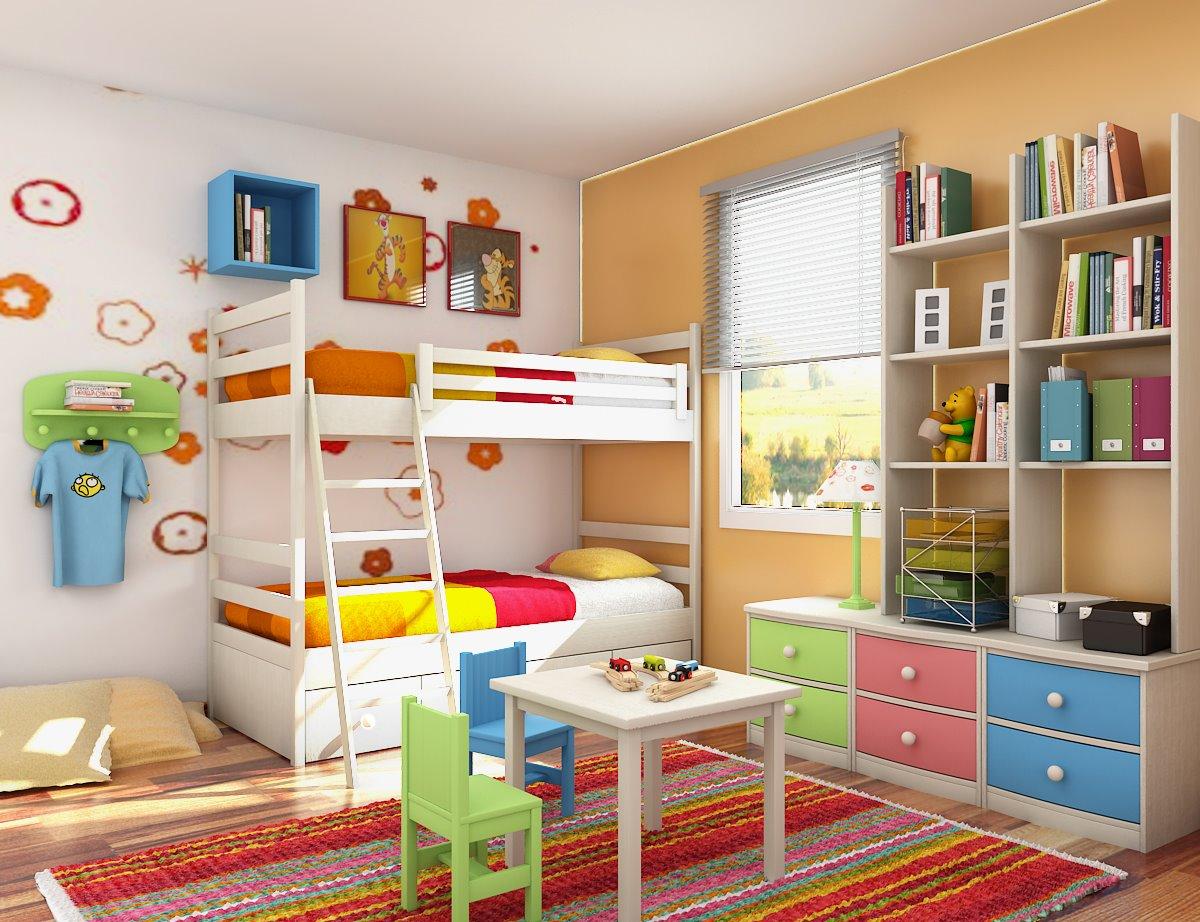 обустройство детской комнаты идеи