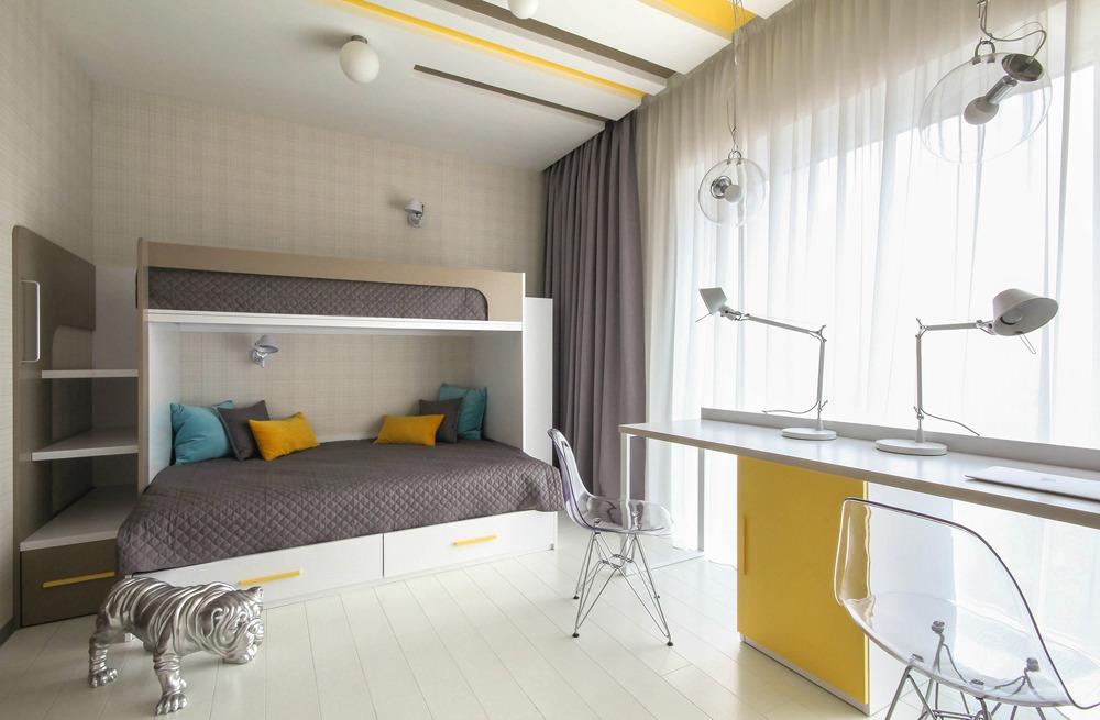 обустройство детской комнаты минимализм