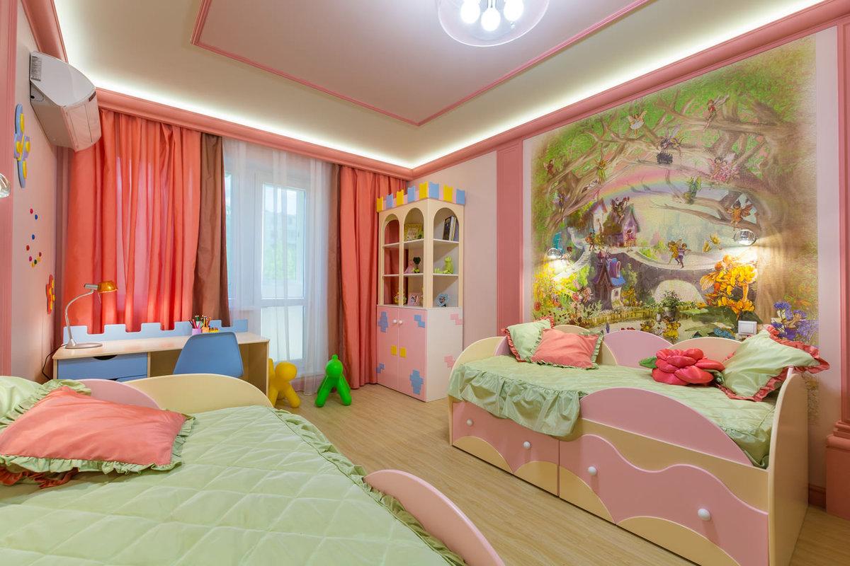 обустройство детской комнаты шторы
