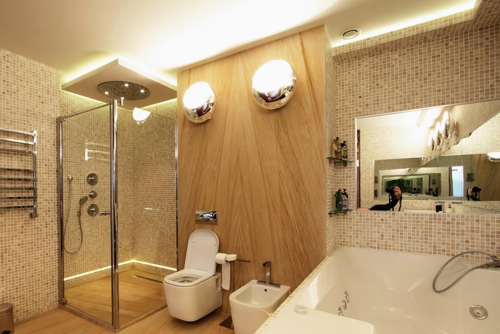 Правильное освещение в ванной совмещенного типа