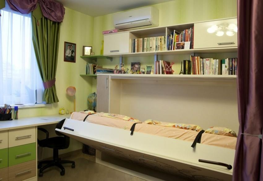 Комната подростка с кроватью-трансформером