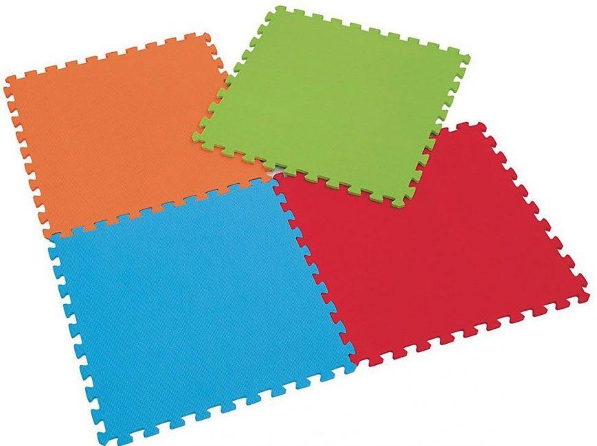 Цветные пазлы мягкого детского коврика