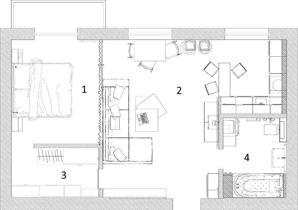 Схема перепланировки сталинки 70 кв метров в квартиру-студию