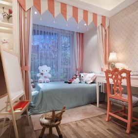персиковая детская комната