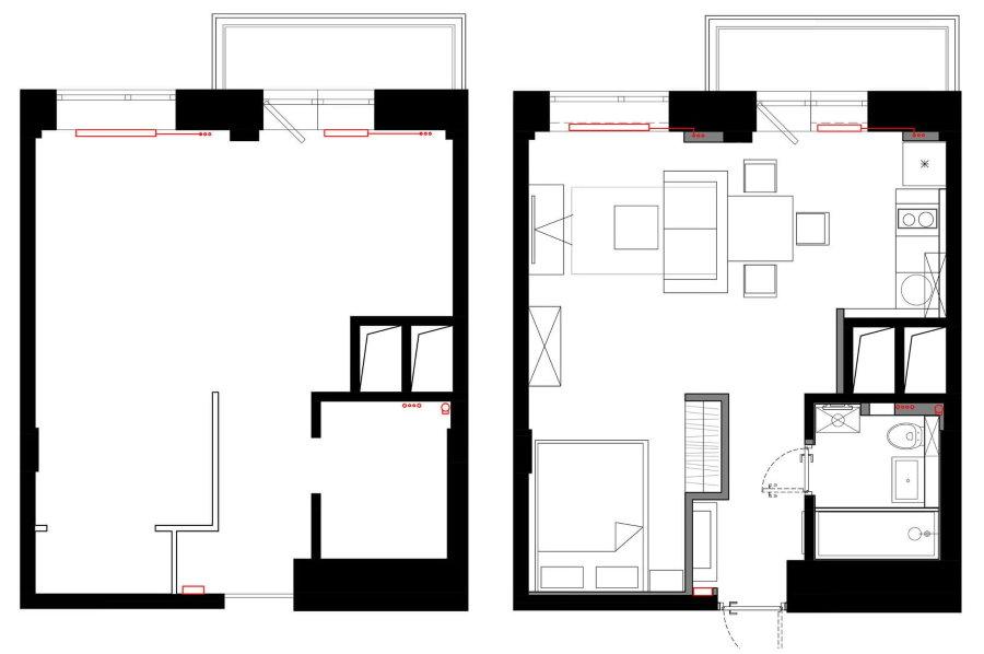 Планировка однокомнатной квартиры небольшой площади