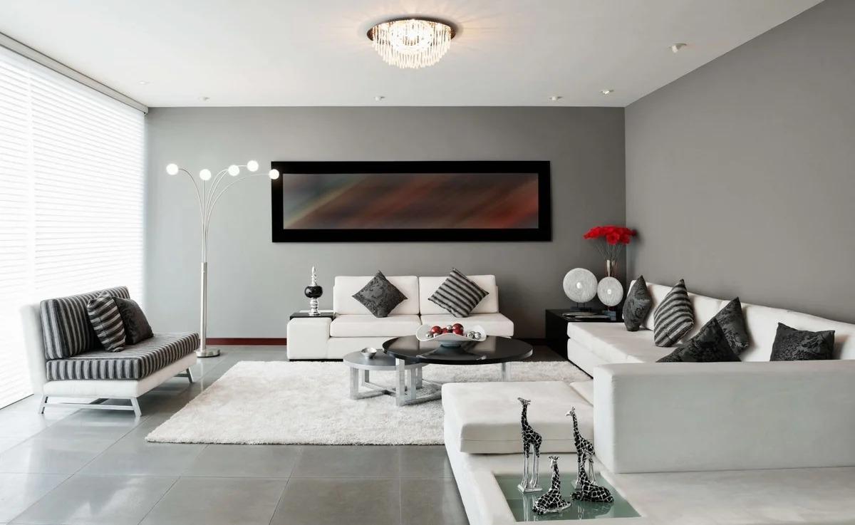 покраска стен в гостиной хай тек