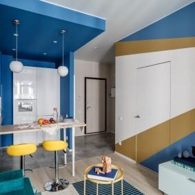 покраска стен в зале виды дизайна