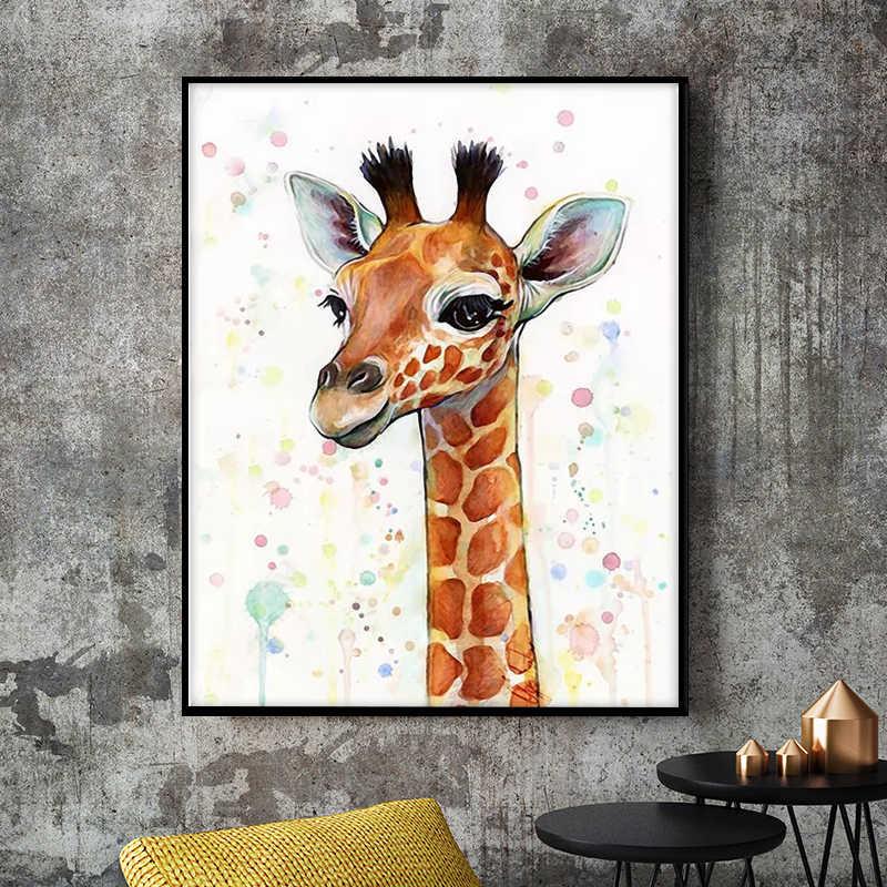 Постер с животным на серой стене