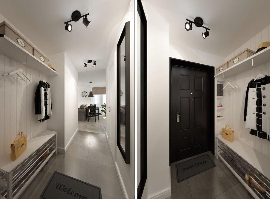 Дизайн узкой прихожей в квартире 33 кв метра