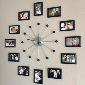 Настенные часы из любимых фотографий