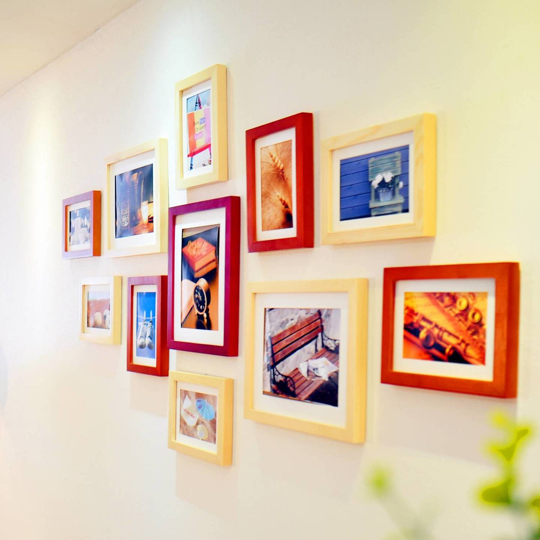 вот как оригинальное оформление стен фотографиями картофельную смесь, выравнивая