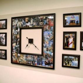 Оригинальные часы из семейных фотографий