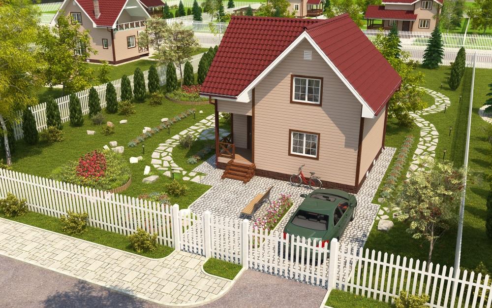 Готовый проект застройки садового участка