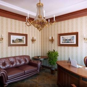 рабочий кабинет в квартире фото декор