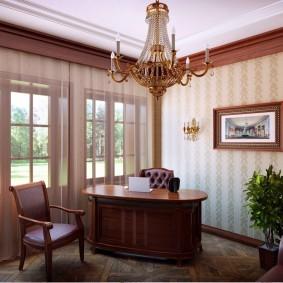 рабочий кабинет в квартире фото декора