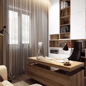 рабочий кабинет в квартире декор идеи