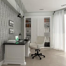 рабочий кабинет в квартире интерьер