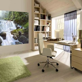 рабочий кабинет в квартире интерьер фото