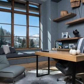 рабочий кабинет в квартире фото интерьер