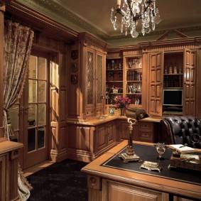 рабочий кабинет в квартире оформление идеи