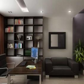 рабочий кабинет в квартире дизайн фото