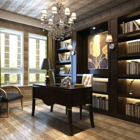 рабочий кабинет в квартире дизайн идеи