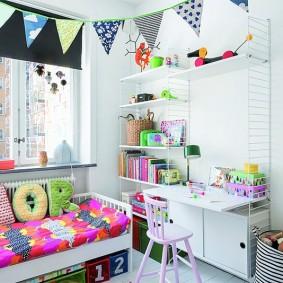 расстановка мебели в детской декор идеи