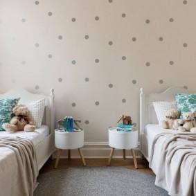расстановка мебели в детской идеи декор