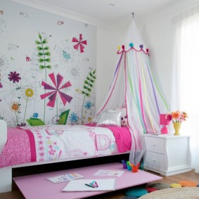 расстановка мебели в детской идеи интерьер