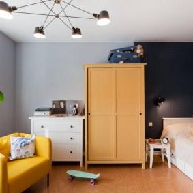 расстановка мебели в детской оформление