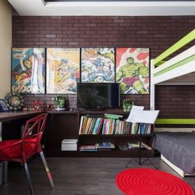 расстановка мебели в детской фото оформление