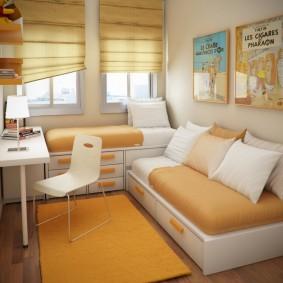 расстановка мебели в детской виды дизайна