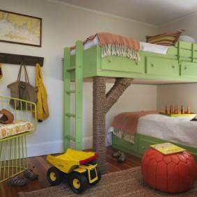 расстановка мебели в детской виды оформления