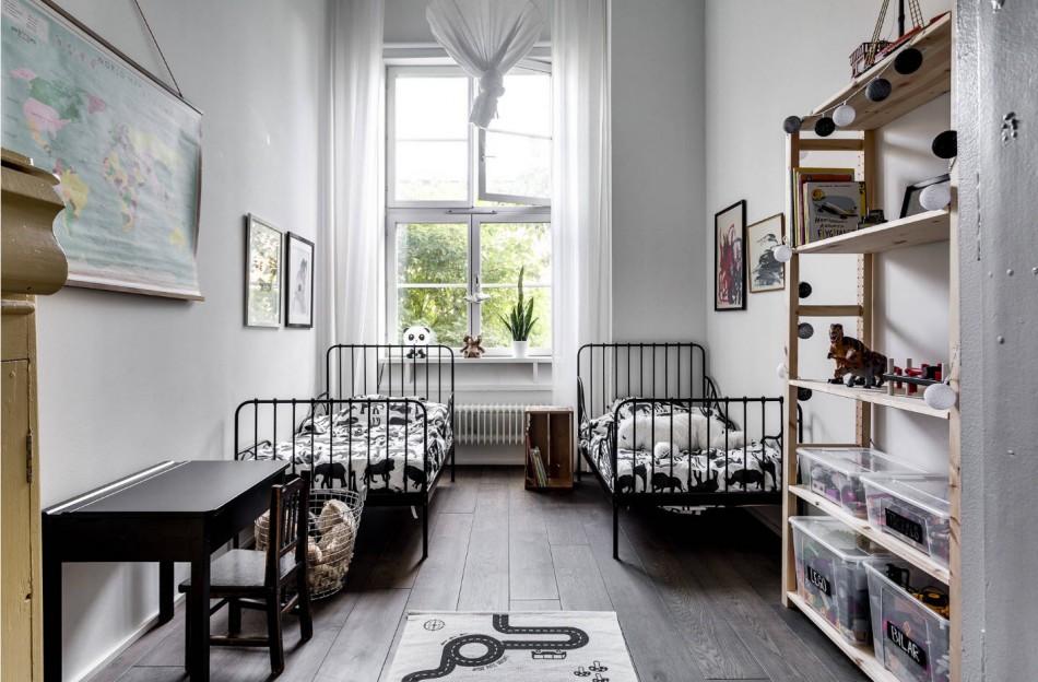 расставляем мебель в детской для двоих детей