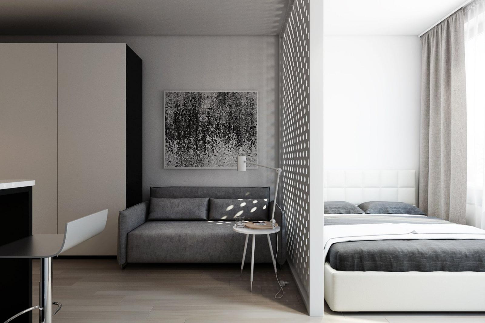 современных стилей фото однокомнатных квартир с местом для кровати вас есть