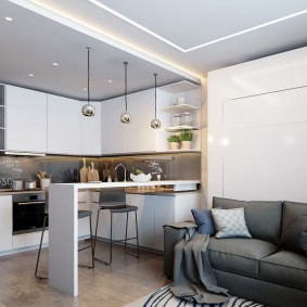 ремонт однокомнатной квартиры оформление идеи