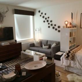 ремонт однокомнатной квартиры интерьер фото